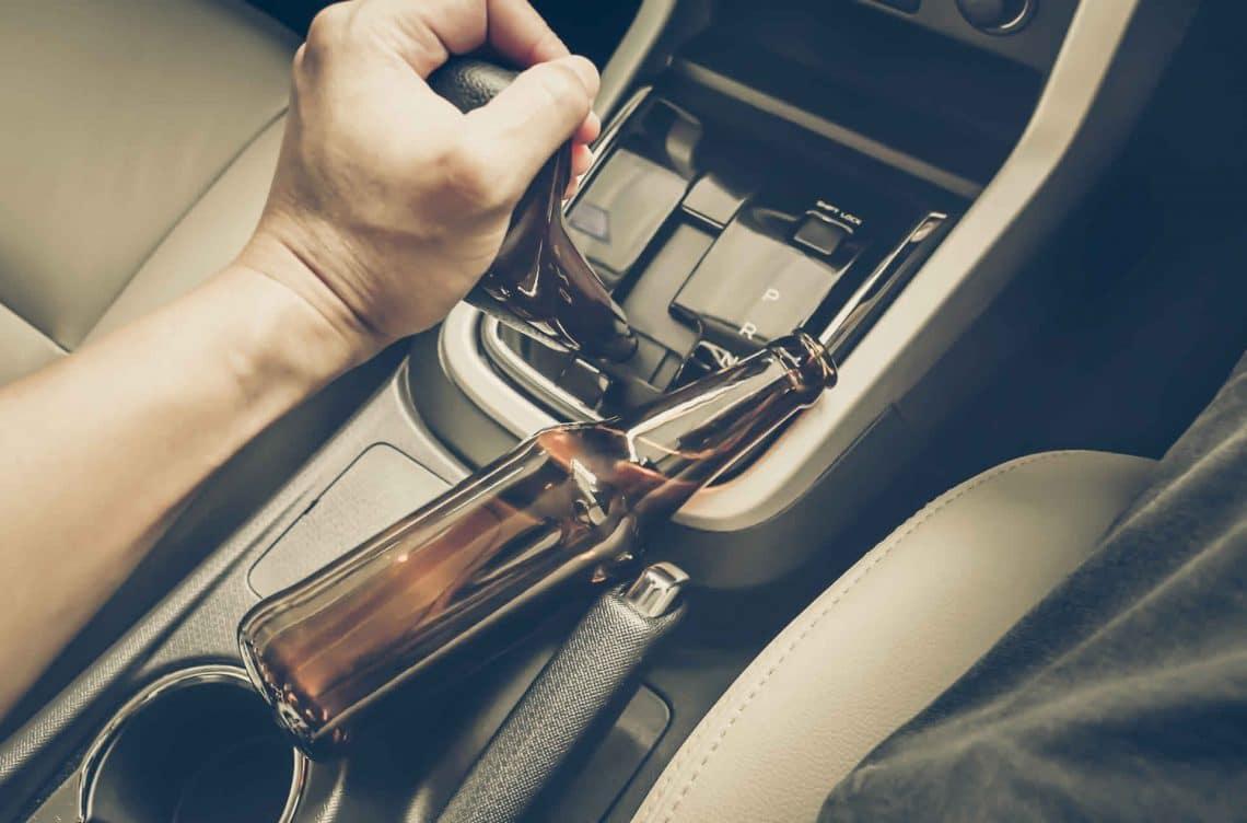 dwi bottle in auto